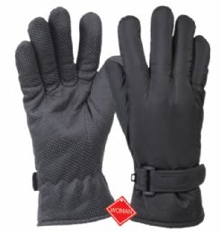 12 Units of Ladies Waterproof Glove W/thermal Fleece Lining - Fleece Gloves