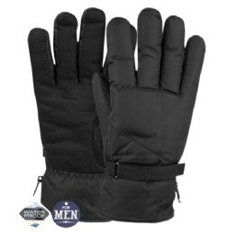 12 Units of Mens Waterproof Ski Glove With Sherpa Lining - Ski Gloves