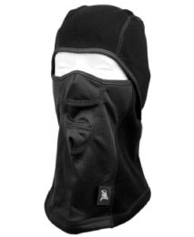 12 Units of Winter Face Cover Sports Mask With Front Mesh And Warm Fur Lining In Black - Unisex Ski Masks