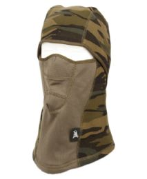 12 Units of Winter Face Cover Sports Mask With Front Mesh And Warm Fur Lining In Camo Green - Unisex Ski Masks