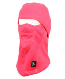 12 Units of Winter Face Cover Sports Mask With Front Mesh And Warm Fur Lining In Hot Pink - Unisex Ski Masks
