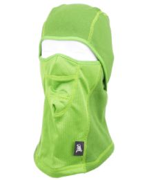 12 Units of Winter Face Cover Sports Mask With Front Mesh And Warm Fur Lining In Neon Green - Unisex Ski Masks