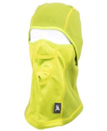 12 Units of Winter Face Cover Sports Mask With Front Mesh And Warm Fur Lining In Neon Yellow - Unisex Ski Masks