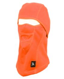 12 Units of Winter Face Cover Sports Mask With Front Mesh And Warm Fur Lining In Orange - Unisex Ski Masks