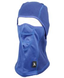 12 Units of Winter Face Cover Sports Mask With Front Mesh And Warm Fur Lining In Royal - Unisex Ski Masks