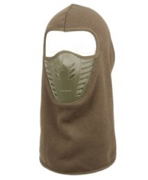 12 Units of Winter Face Cover Sports Mask With Front Air Flow And Soft Fur Lining In Olive - Unisex Ski Masks