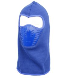 12 Units of Winter Face Cover Sports Mask With Front Air Flow And Soft Fur Lining In Royal Blue - Unisex Ski Masks