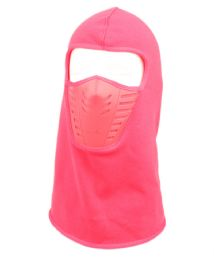 12 Units of Winter Face Cover Sports Mask With Front Air Flow And Soft Fur Lining In Hot Pink - Unisex Ski Masks
