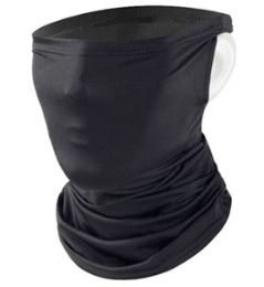 24 Units of Face Cover Mask With Refillable Filter In Black - Face Mask