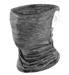 24 Units of Face Cover Mask With Refillable Filter In Dark Grey - Face Mask