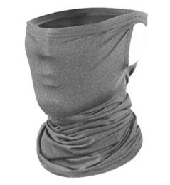 24 Units of Face Cover Mask With Refillable Filter In Light Grey - Face Mask