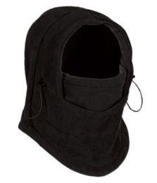 24 Units of Fleece Winter Flexible Mask In Black - Unisex Ski Masks