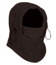 24 Units of Fleece Winter Flexible Mask In Charcoal - Unisex Ski Masks