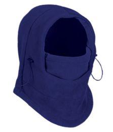 24 Units of Fleece Winter Flexible Mask In Royal Blue - Unisex Ski Masks