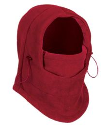 24 Units of Fleece Winter Flexible Mask In Red - Unisex Ski Masks