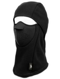 12 Units of Winter Face Cover Sports Mask With Front Foam And Warm Fur Lining In Black - Unisex Ski Masks