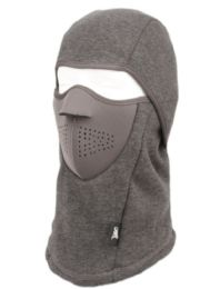 12 Units of Winter Face Cover Sports Mask With Front Foam And Warm Fur Lining In Grey - Unisex Ski Masks