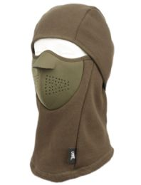 12 Units of Winter Face Cover Sports Mask With Front Foam And Warm Fur Lining In Olive - Unisex Ski Masks