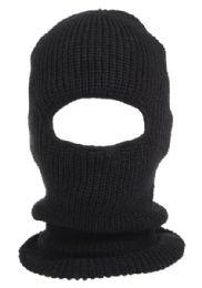 24 Units of Knit Ninja Winter Mask in Black - Unisex Ski Masks