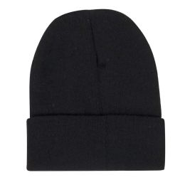 100 Units of Adult Knit Hat Beanie Black Only - Winter Beanie Hats