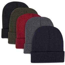 100 Units of Children Knit Hat Beanie 5 Assorted Colors - Junior / Kids Winter Hats