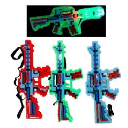 72 Units of Light And Sound Pixelated Toy Gun - Toy Weapons