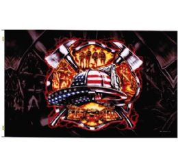 72 Units of American Patriotic Firefighter Flag - Signs & Flags