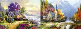 40 Units of 3D Picture Cottage Church - Home Decor