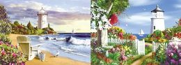 40 Units of 3D Picture Lighthouse With Flower Garden - Home Decor
