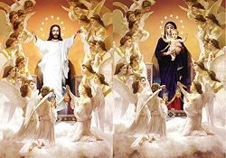 40 Units of 3D Picture Jesus With Angels Mary With Angels - Home Decor