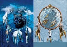 40 Units of 3D Picture Dream Catcher With Wolf - Home Decor