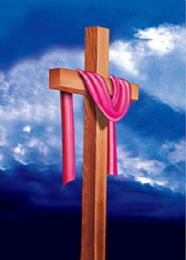 40 Units of 3D Picture Cloth Draped Wooden Cross - Home Decor