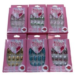 72 Units of Fashion Nails Miss Lucy Print Pink Package - Manicure and Pedicure Items