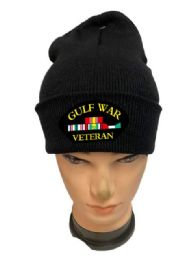 24 Units of Black Color Winter Beanie Gulf War Veteran - Winter Beanie Hats