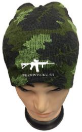 24 Units of We Don't Call 911 Camo Winter Beanie - Winter Beanie Hats