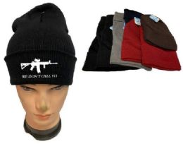 36 Units of We Don't Call 911 Mix Color Winter Beanie - Winter Beanie Hats