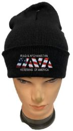 36 Units of Iraq And Afghanistan Veterans Black Winter Beanie - Winter Beanie Hats