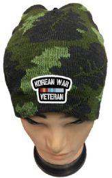36 Units of Korean War Veteran Camo Winter Beanie - Winter Beanie Hats