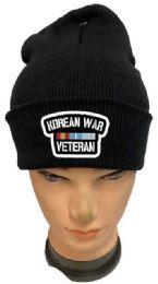 36 Units of Korean War Veteran Black Color Winter Beanie - Winter Beanie Hats