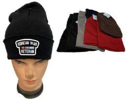 36 Units of Korean War Veteran Mix Color Winter Beanie - Winter Beanie Hats
