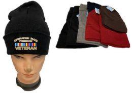 36 Units of Operation Iraqi Freedom Veteran Mix color Beanie - Winter Beanie Hats
