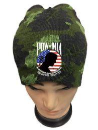 36 Units of Pow Mia Camo Winter Beanie - Winter Beanie Hats