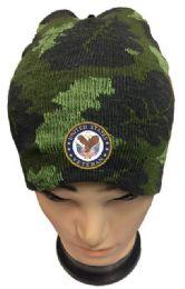 36 Units of United State Veteran Camo Winter Beanie - Winter Beanie Hats