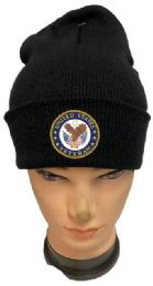 36 Units of United State Veteran Black color Winter Beanie - Winter Beanie Hats