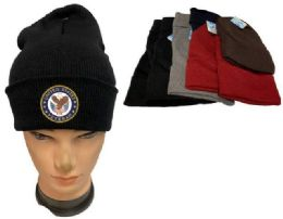 36 Units of United State Veteran Mix color Winter Beanie - Winter Beanie Hats