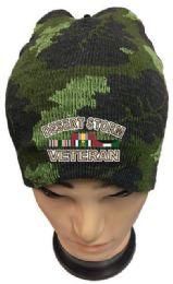 36 Units of Desert Storm Veteran Camo Winter Beanie - Winter Beanie Hats