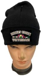 36 Units of Desert Storm Veteran Black color Winter Beanie - Winter Beanie Hats
