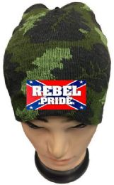 36 Units of Rebel Pride Camo Winter Beanie - Winter Beanie Hats