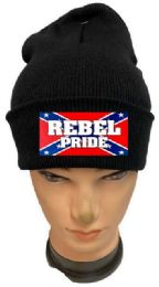 36 Units of Rebel Pride Black Winter Beanie - Winter Beanie Hats