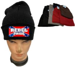 36 Units of Rebel Pride Assorted color Winter Beanie - Winter Beanie Hats